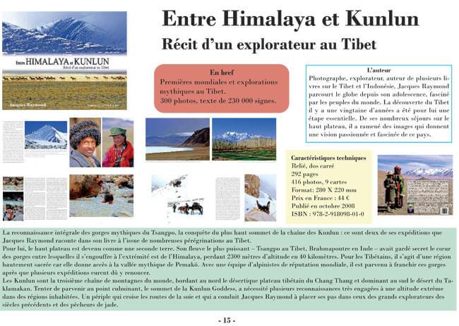 Vues du livre : Entre Himalaya et Kunlun, récit d'un explorateur au Tibet